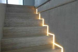Oświetlenie schodów - wnęka