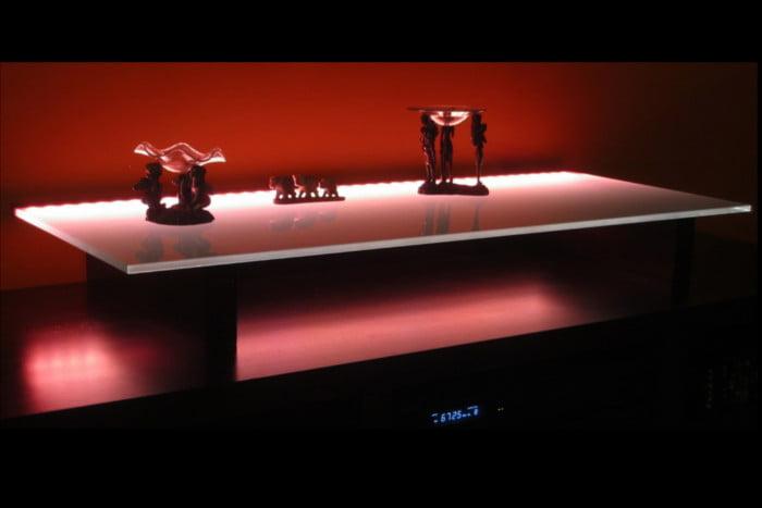 Podświetlenie szklanej tafli - widok ogólny