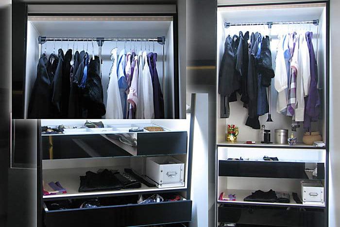 Funkcjonalne oświetlenie szafy