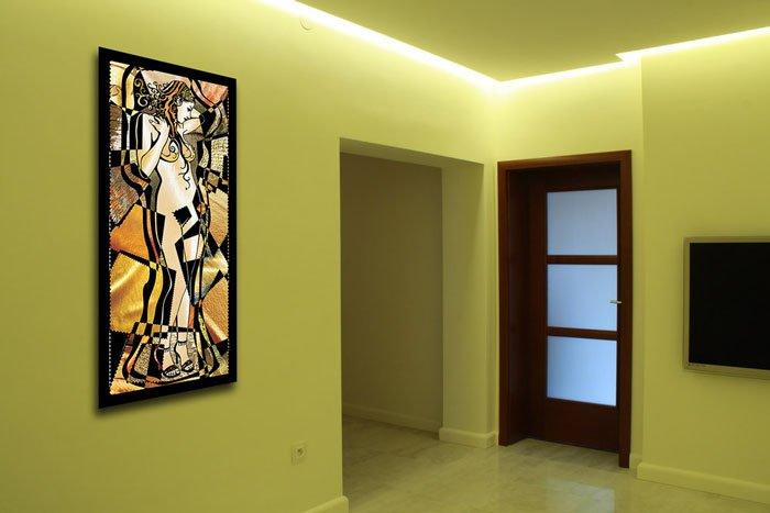 Oświetlenie LED - neowitraż, witraż LED
