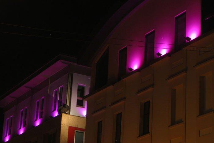 Katowice - Oświetlenie RGB elewacji